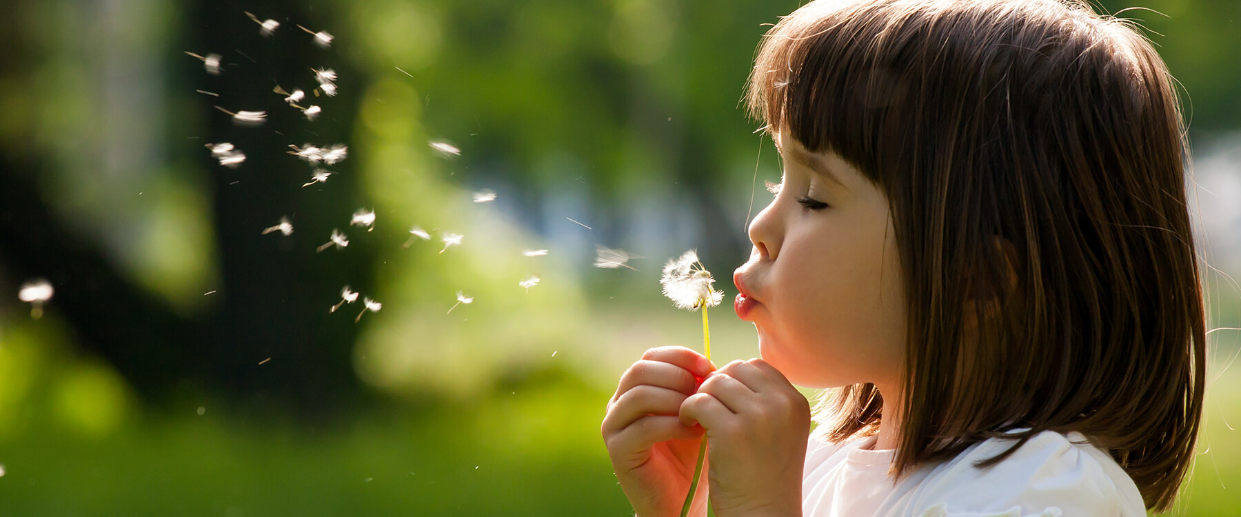 Young Girl Blowing a Dandelion - Pediatric Dentistry in Gallatin, TN