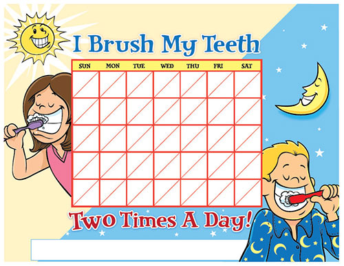 Color Brushing Chart for Children - Pediatric Dentist in Gallatin, TN